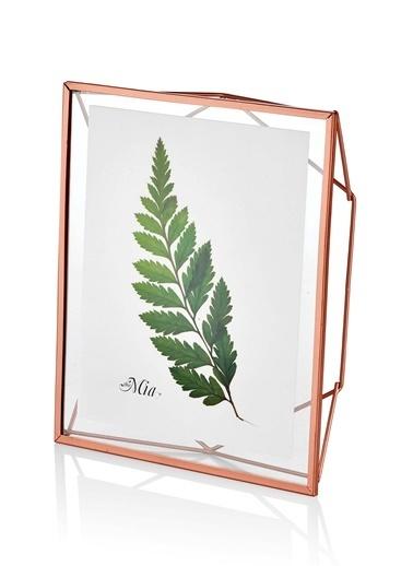 The Mia Brass Çerçeve Copper 29 x 25 Cm  Renksiz